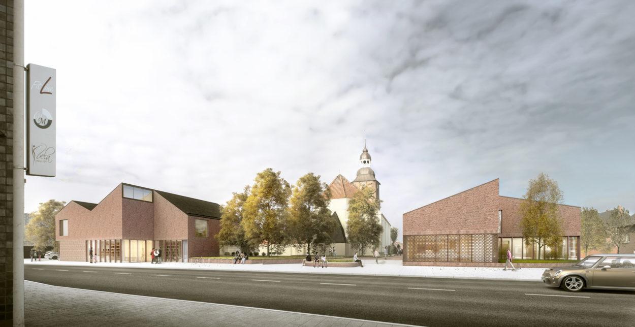 Neubebauung des Kirchenumfeldes St. Andreas Cloppenburg, 1.Preis